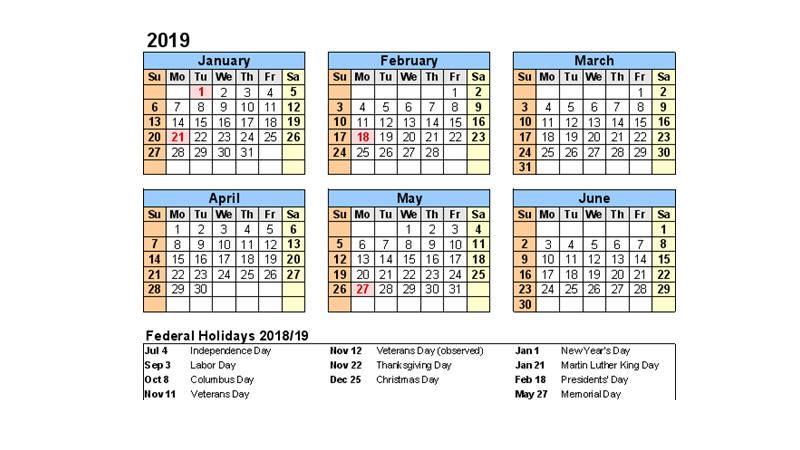 Maps Schedule Spring 2018